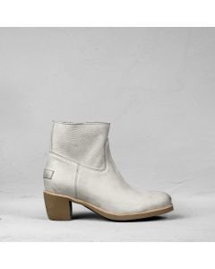 Ankle boot heavy grain leather Light Grey