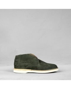 Lace-up shoe suede Dark Olive