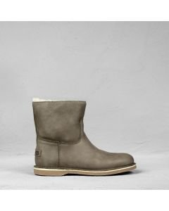 Ankle boot hand buffed leather Light Taupe