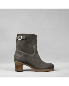 Ankle boot printed suede Grey