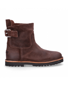 Ankle-boot-waxed-suede-Dark-Brown