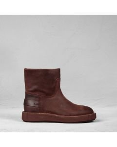 Ankle-boot-waxed-suede-Red