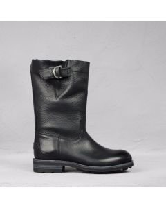 Boot grain leather Black