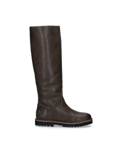 Boot-smooth-leather-Grey