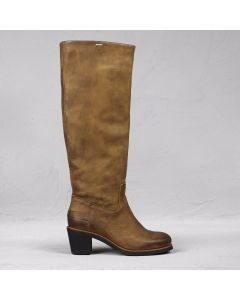 Boot waxed grain leather Brown