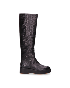 Boot-croco-printed-leather-Black-