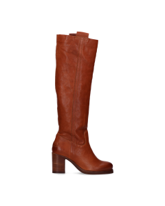 Boot-with-heel-smooth-leather-Cognac