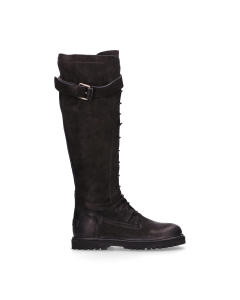 Boot-with-lace-up-waxed-grain-leather-Black