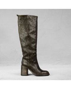 Boot cutted leather Dark Brown