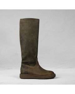 Boot waxed suede Dark Olive