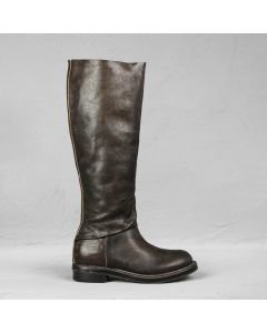 Boot polished leather Taupe