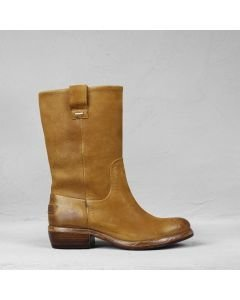 Boot waxed grain leather Caramel