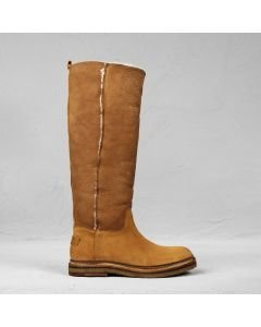Boot reversed leather Cognac