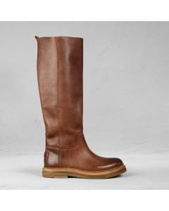 Boot grain leather Brown