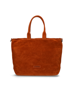 Shopper-waxed-suede-with-grain-leather-Orange