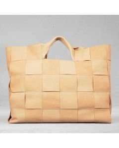 Shopper-plaited-leather-sand