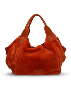 Handbag-double-face-with-waxed-suede-Orange