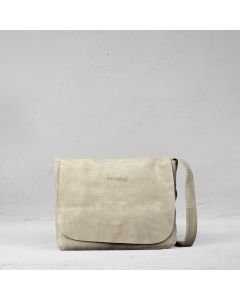 Shoulderbag-suede-Taupe