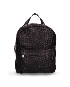 Backpack-croco-printed-leather-Black-