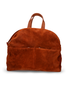 Backpack-waxed-suede-with-polished-leather-Orange