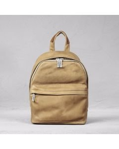 Backpack heavy grain leather Light Brown