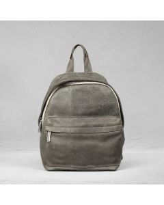 Backpack heavy grain leather Taupe