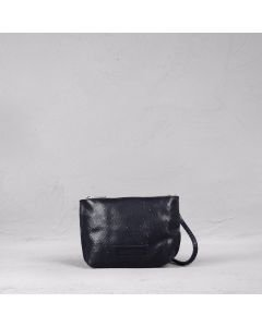 Shoulderbag cutted leather Blue