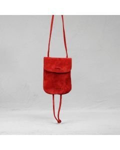 Shoulder-bag-suede-suede-red