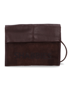 Cross-body-waxed-suede-with-polished-leather-Dark-Brown