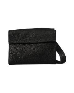 Cross-body-geprint-leer-zwart-