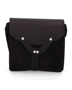 Small-cross-body-waxed-suede-with-polished-leather-Black-