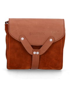 Small-cross-body-waxed-suede-with-polished-leather-Orange