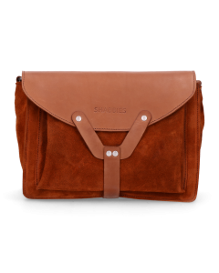 Cross-body-waxed-suede-with-polished-leather-Orange