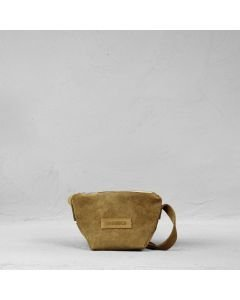 Shoulderbag suede Cognac