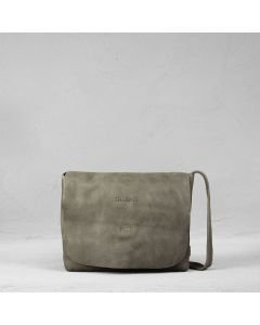 Cross body heavy grain leather Taupe
