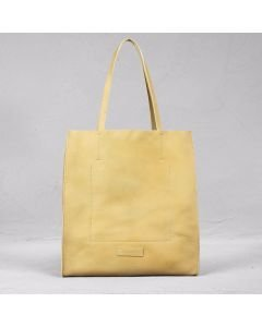 Shopping bag hand buffed leather Naturel