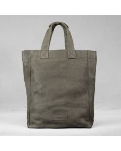 Shoulderbag heavy grain leather Taupe