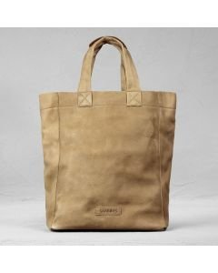 Shoulderbag heavy grain leather Light Brown