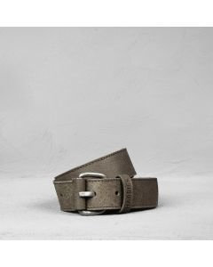 Belt hand buffed leather Taupe