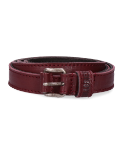 Belt-smooth-leather-Bordeaux