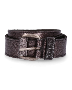 Belt-grain-leather-Silver-Grey