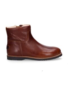 KIDS-//-Ankle-boot-polished-leather-Brown-36-39
