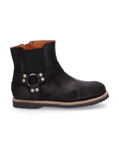 KIDS-//-Ankle-boot-waxed-suede-Black-28-35