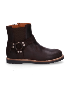KIDS-//-Ankle-boot-waxed-suede-Dark-Brown-28-35