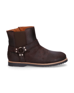 KIDS-//-Ankle-boot-waxed-suede-Dark-Brown-36-39