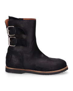 Kids-ankle-boot-waxed-suede-Navy-Blue-28-35