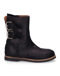 KIDS-//-Ankle-boot-waxed-suede-Navy-Blue-36-39