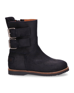 KIDS-//-Ankle-boot-waxed-suede-Navy-Blue-28-35