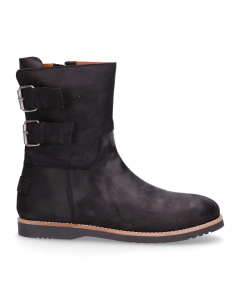 Kids-ankle-boot-waxed-suede-Black-28-35