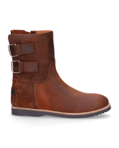 Kids-ankle-boot-waxed-suede-Brown-28-35